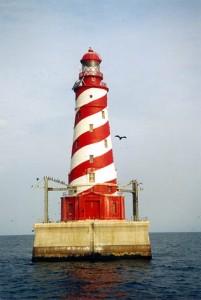White Shoal Light, MI, courtesy Lighthouse Friends