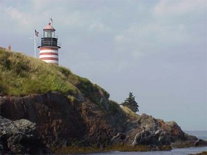 West Quoddy Head Lighthouse courtesy cyberlights.com.