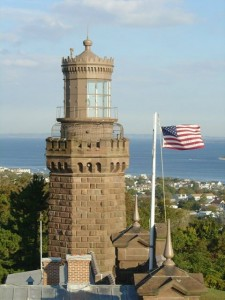 tower at Navesink with flag
