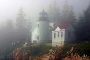 Bass Harbor Light in fog, Maine, photo courtesy Jeremy D'Entremont