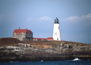 Wood Island Light, Maine, courtesy The Lighthouse People