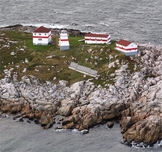 Puffin Island Lighthouse, Newfoundland, photo courtesy lighthousefriends.com.