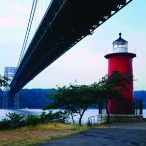 Little Red Lighthouse and the George Washington Bridge, NYC