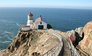 Point Reyes Lighthouse, CA, Photo courtesy lighthousefriends.com.