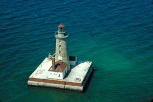 Spectacle Reef Lighthouse, photo courtesy US Coast Guard