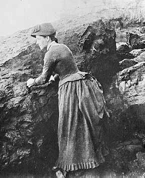 Laura Hecox collecting marine specimens