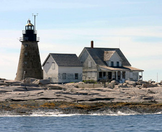 Mount Desert Rock Lighthouse, courtesy lighthousefriends.com.