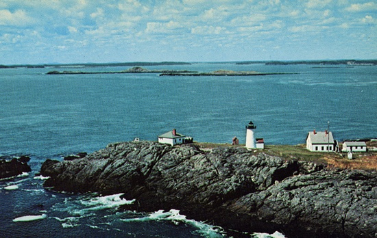 Libby Island Lighthouse, postcard circa 1960's