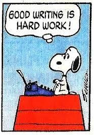 Snoopy - writing is hard work