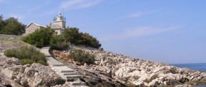 The lighthouse of St. Nicholas in Istria