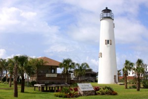 Cape St. George Lighthouse, FL, photo courtesy Lighthouse Digest, rebuilt and relocated