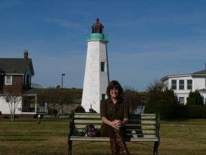 Donna at Old Point Comfort Lighthouse
