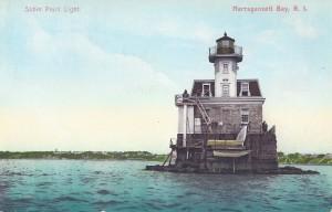 Sabin Point Light, FI, old postcard courtesy Jeremy D'Entremont