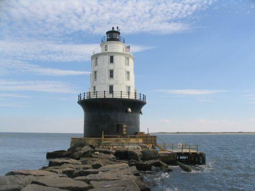 Harbor of Refuge Lighthouse  by Bob Trapani