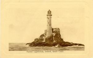 Old Postcard of Fastnet Lighthouse, Ireland