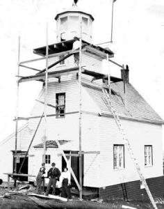 Original Ingonish Island Lighthouse, photo courtesy Nova Scotia Public Archives