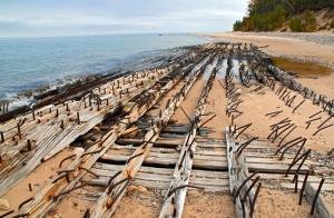 shipwreck near Au Sable Point