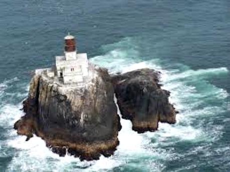 Tillamook Rock Lighthouse, photo courtesy US Coast Guard