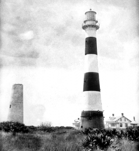 Cape Canaveral Lighthouse, new and old, photo courtesy State Archives of Florida