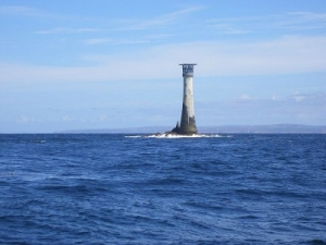 Wolf Rock Lighthouse, photo by Alvaro, wikicommons