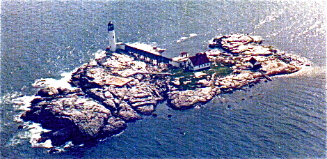 White Island lighthouse, aerial view