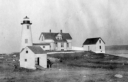 Cuttyhunk Lighthouse, MA, 1880's, photo courtesy USCG