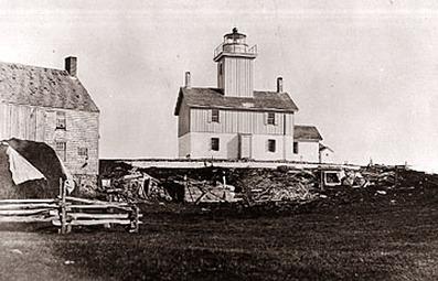 Cuttyhunk Lighthouse, 1880's, photo courteday USCG
