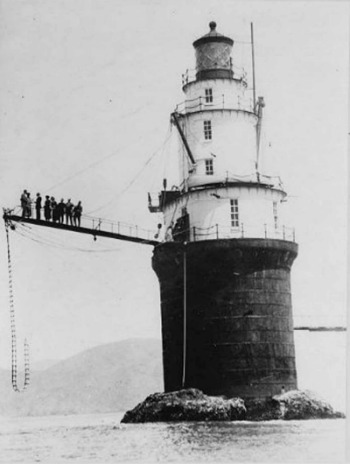 Wedding at Mile Rocks Lighthouse, CA 1924, photo from Library of Congress, courtesy of Lighthouse Digest Magazine