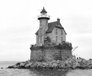 Race Rock Lighthouse, 1965, photo courtesy US Coast Guard