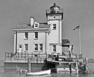 Rondout Creek Lighthouse, 1943, photo courtesy USCG