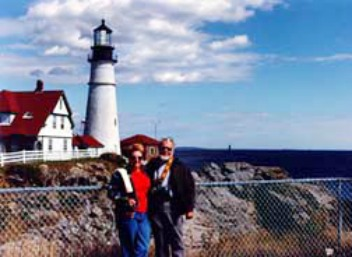 The Lighthouse People at Portland Head, Maine