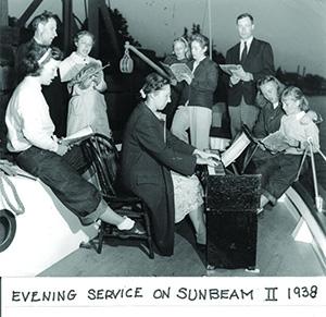 Church service on the Sunbeam II