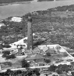 Pnce de Leon Inlet Lighthouse station, 1930, photo from U.S.C.G.